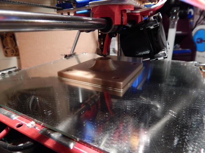 Ceiling bracket printing on my RepRap Prusa Mendel