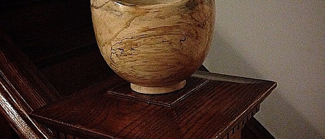 Spalted Maple turned bowl