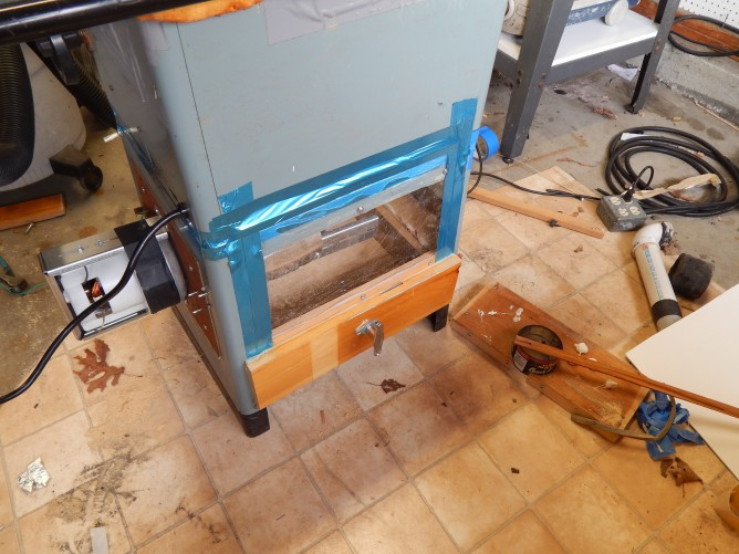 Tablesaw dust collection DIY