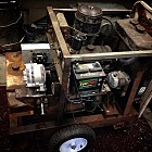 Portable welder made with auto parts from 1946 through 2015.  I think this is the sexiest thing I