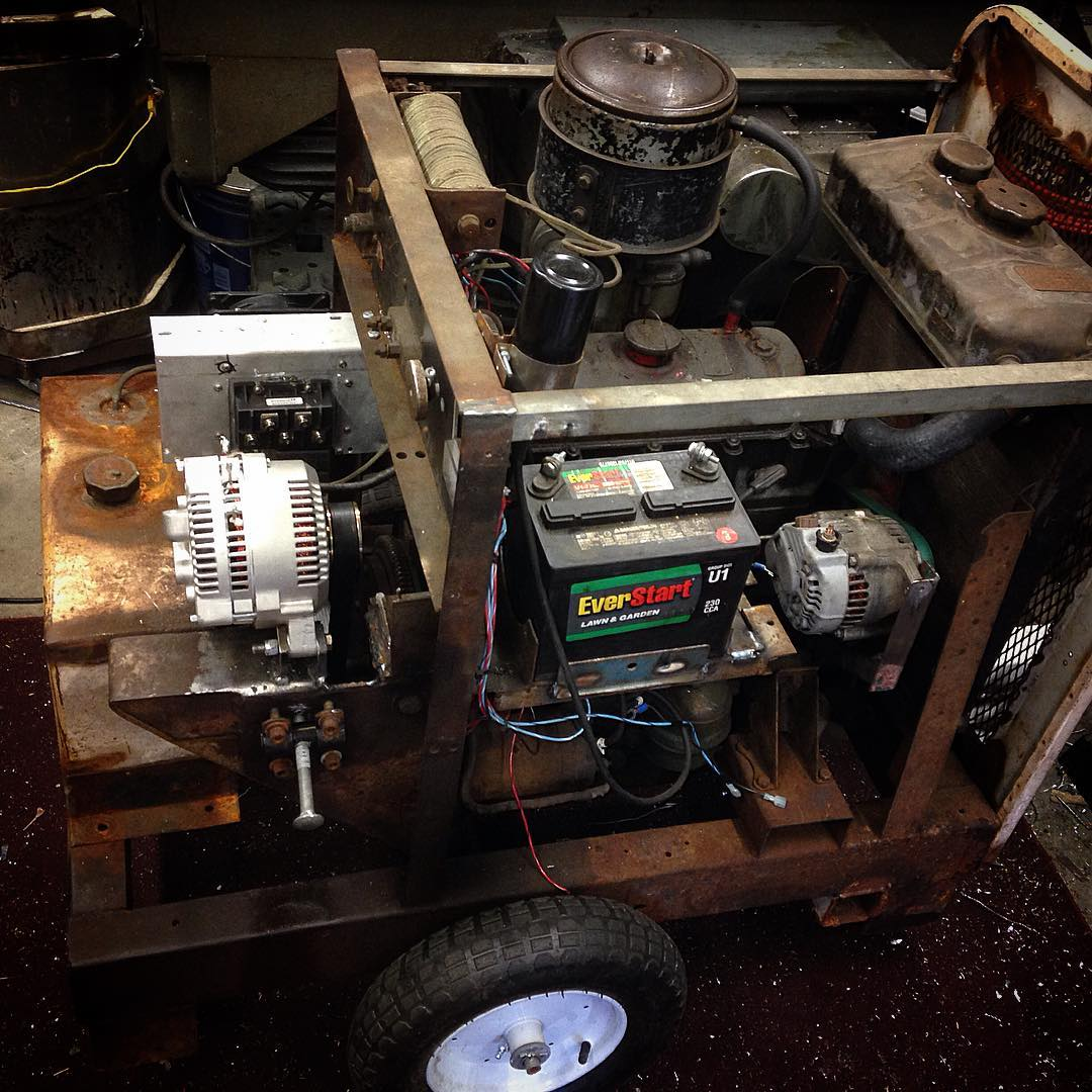 Portable welder made with auto parts from 1946 through 2015.  I think this is the sexiest thing I've ever worked on!