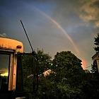Rainbow at dusk!