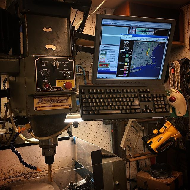 It's important to check your Doppler RADAR between milling operations when there are thunderstorms in the area.