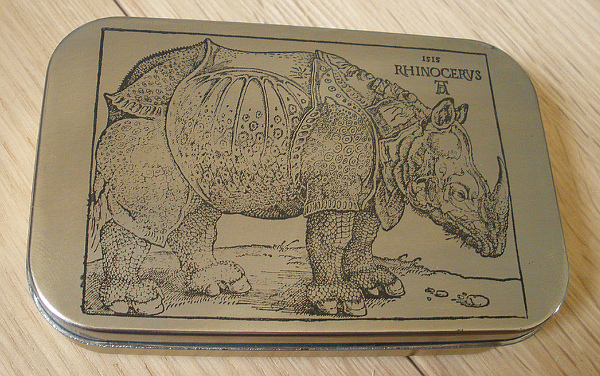 altoid etched rhino