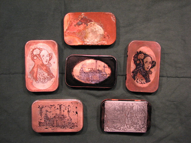 finished and copper plated tins