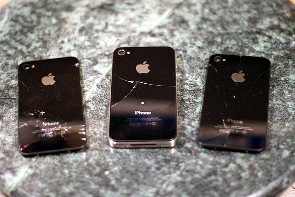 broken iphone backs