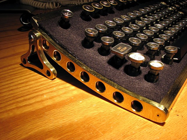 Steampunk Keyboard - Larboard