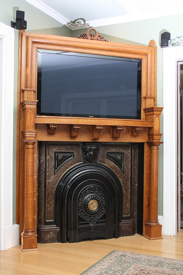 A visit to a steampunked home for Victorian corner fireplace