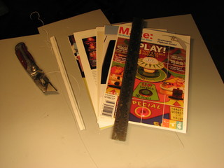 cutting up Make: magazine