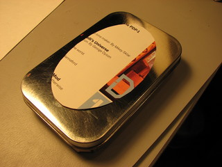 toner mask on altoids tin
