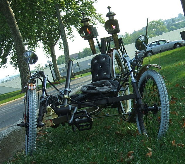 The Brass Lion - Steampunk Recumbent | The Steampunk Workshop :  steampunk bike human powered the