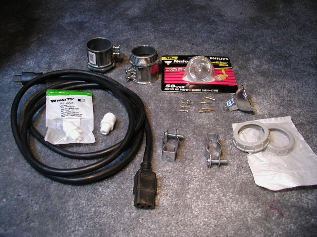 bike headlight parts