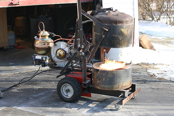 Gasoline and Waste Oil Foundry Burner