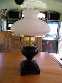 kerosene table lamp, oil lamp