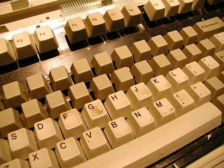 IBM Model M Keyboard keys removed