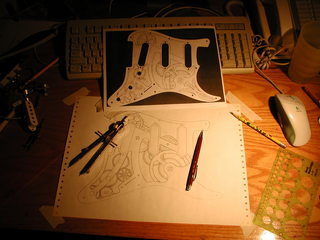 drawing the escapement for the clockwork guitar