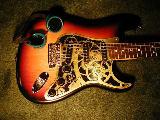The Clockwork Steampunk Stratocaster Guitar