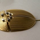 Brass Scarab Brooch