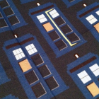 Tardis pattern fabric