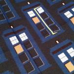 Tardis pattern fabric