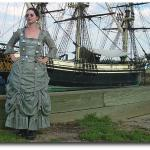 The Time Jumper : A Victorian dress made from a military surplus parachute