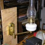 Swing-arm Kerosene Wall Lamp