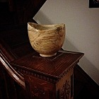 A Bowl My Dad Made from Spalted Maple