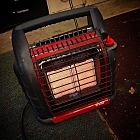 Mr. Heater is my new BFF. I love him.