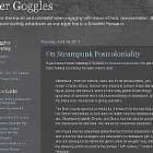 Steampunk Postcoloniality
