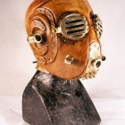 Slightly disturbing but beautiful steampunk leather mask